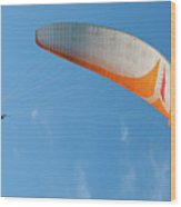 Paraglider In The Blue Wood Print
