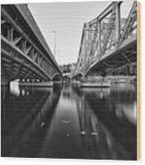 Parallel Bridge Wood Print