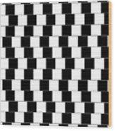 Parallel Lines Wood Print