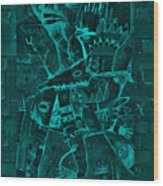 Paramount Turquoise Wood Print