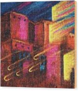Paranormal Pueblos  Wood Print