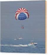 Parasailing In Florida Wood Print