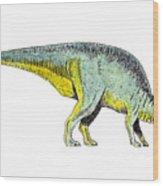 Parasaurolophus Wood Print by Michael Vigliotti