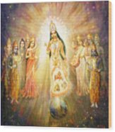 Parashakti Devi - The Great Goddess In Space Wood Print
