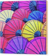Parasols Wood Print