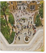 Parc Guell In Barcelona Wood Print