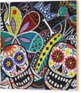 Pareja Dia De Los Muertos Wood Print
