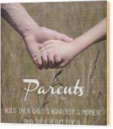 Parents For A Lifetime Wood Print