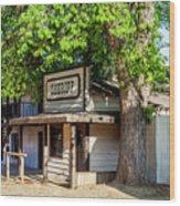 Parimount Ranch Sheriff Office Wood Print