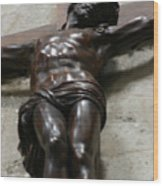 Paris - Jesus On Cross Wood Print