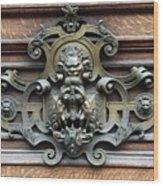 Paris - 19th Century Brass Door Knocker Wood Print