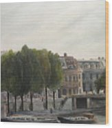 Paris Across The Seine Wood Print