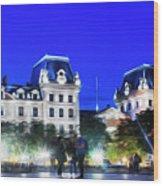 Paris At Night 21art Wood Print