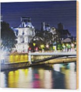 Paris At Night 22 Wood Print
