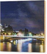 Paris At Night 23 Wood Print