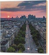 Paris, Avenue De La Grande Armee Wood Print