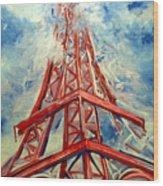 Paris Backdrop Wood Print