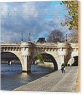Paris Bridge 0523 Wood Print