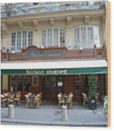 Paris Cafe Bistro Vivienne - Paris Cafes Bistro Restaurant-paris Cafe Galerie Vivienne Wood Print
