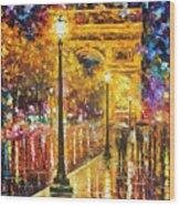 Paris - Campos Elises Wood Print