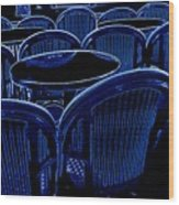 Paris Chairs Wood Print