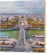 Paris City View 19 Art Wood Print