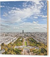 Paris City View 20 B Wood Print