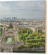 Paris City View 27 Wood Print