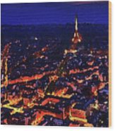 Paris City View Wood Print