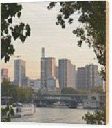 Paris Cityscape Across The Water Wood Print