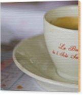 Paris Coffee Wood Print