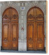 Paris Doors Wood Print