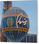 Paris-eifel Tower-las Vegas Wood Print