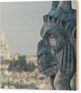 Gargoyle Of Paris Wood Print