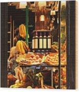 Paris Grocery Store Wood Print