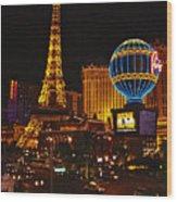 Paris In Las Vegas-nevada Wood Print