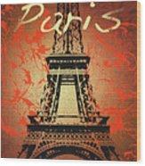 Paris In The Fall  Wood Print