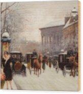 Paris In Winter Wood Print