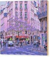 Paris Intersection Wood Print
