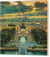 Paris Landscape Wood Print
