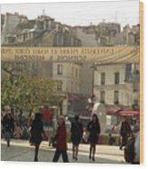 Paris Left Bank Wood Print