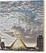 Paris Louvre Wood Print