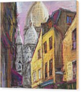 Paris Montmartre 2 Wood Print by Yuriy  Shevchuk