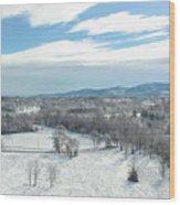 Paris Mountain Snow Wood Print
