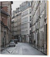Paris Neighborhood Marais - No Right Turn 1 Wood Print