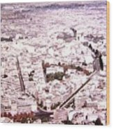 Paris Panorama 1955  Wood Print