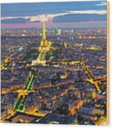 Paris Panorama Wood Print