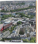 Paris Panorama From The Eiffel Tower Wood Print