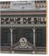 Paris Pool Hall Wood Print