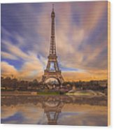 Paris Reflections Wood Print